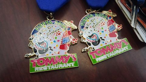 Tommy's Mexican Restaurant fiesta medal