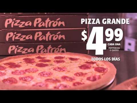 $4.99 pizza patron (Spanish)